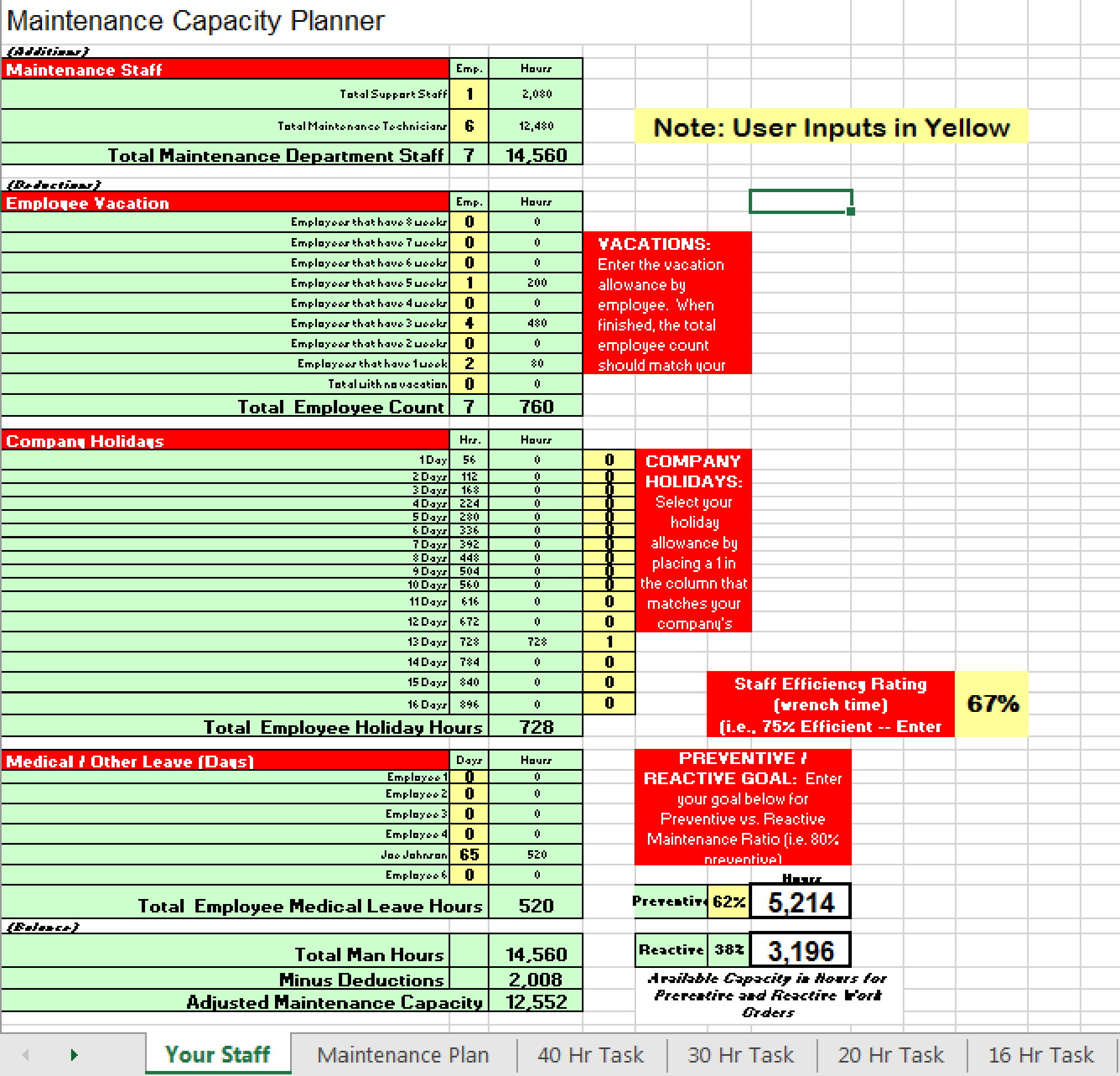 Maintenance Planner