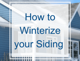 How to Winterize your Siding