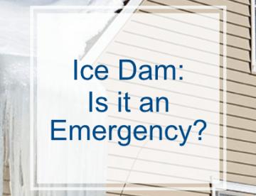 Ice Dam- Is it an emergency?