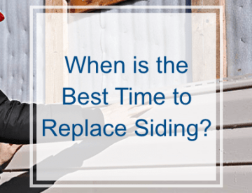 When is the best time to replace siding?