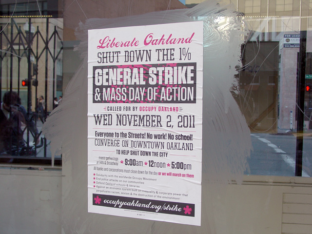 Liberate Oakland poster