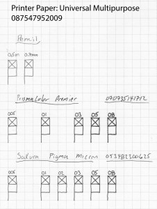 Pen and Paper Comparison Universal Paper