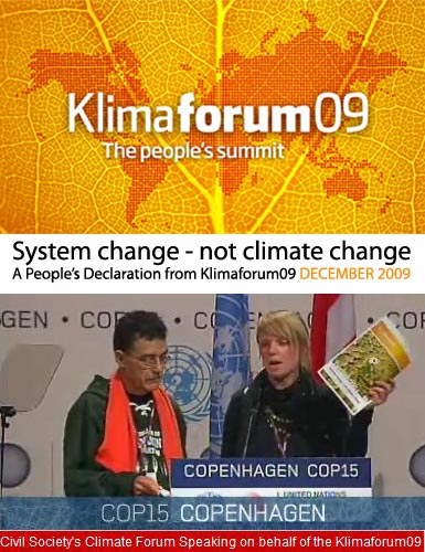 klimaforum vs police