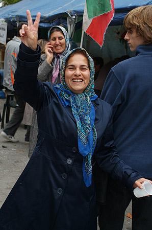 Farzaneh Dadkhah and victory.