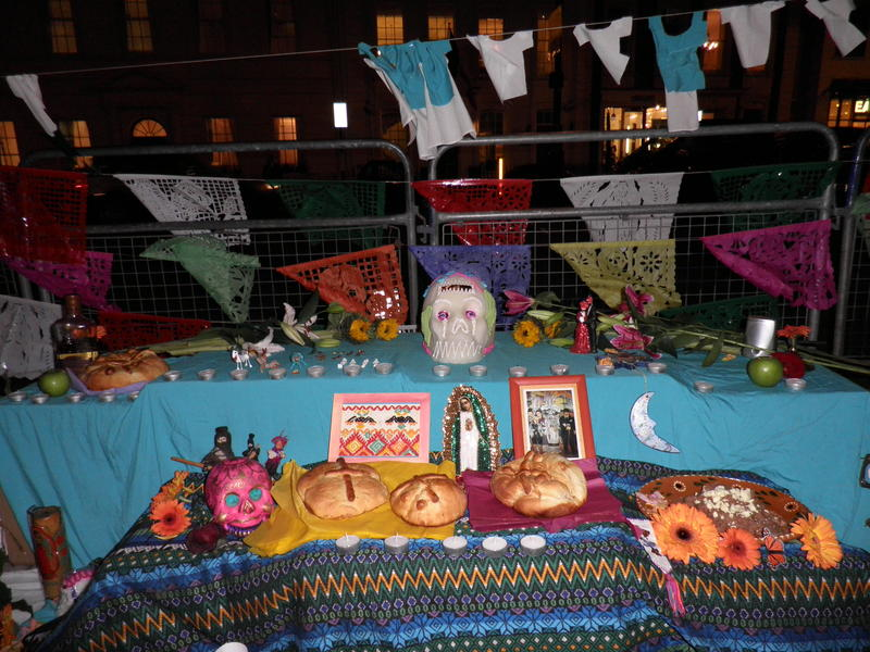 All Souls altar in front of Mexican Embassy