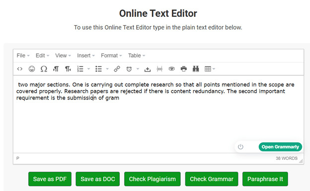 Online-Text-editor | Technical writing