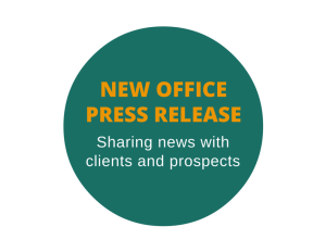 Press release to announce a new office
