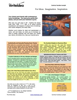 Seminar handout / flyer to create awareness for a local business