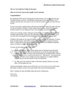 Ghostwritten tax guide to establish expertise