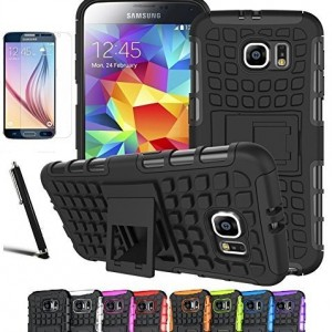 Galaxy S7 Case, Dual Layer Case with Kickstand11