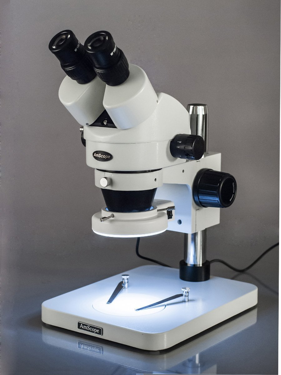 AmScope Professional Binocular Stereo Zoom Microscope