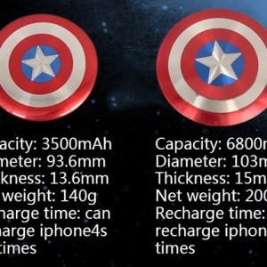 MARVEL America Captain Power Bank