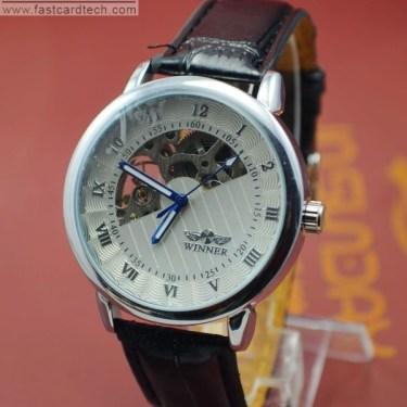 Automatic White Winner Watch J209