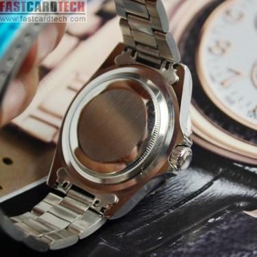 Cool Automatic Watch J233 - Male Steel Skeleton