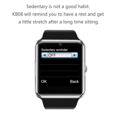 KB08 Bluetooth Smart Watch GSM Phone