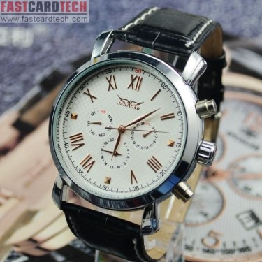 Luxury Men Automatic Jaragar White Watch J181