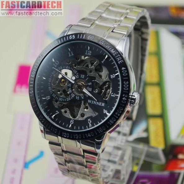 Silvery Winner Watch