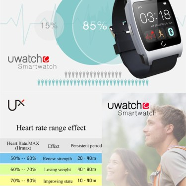 U Watch Ux Heart Rate Monitor Smart Watch