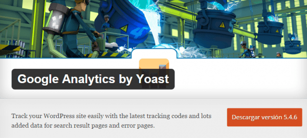 Plugin Google Analytics by Yoast para WordPress