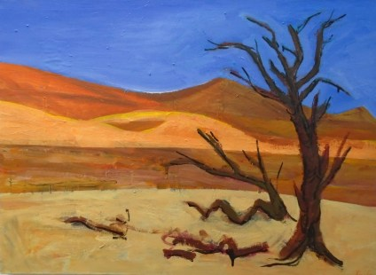 Deadvlei Namibia mixed media on canvas