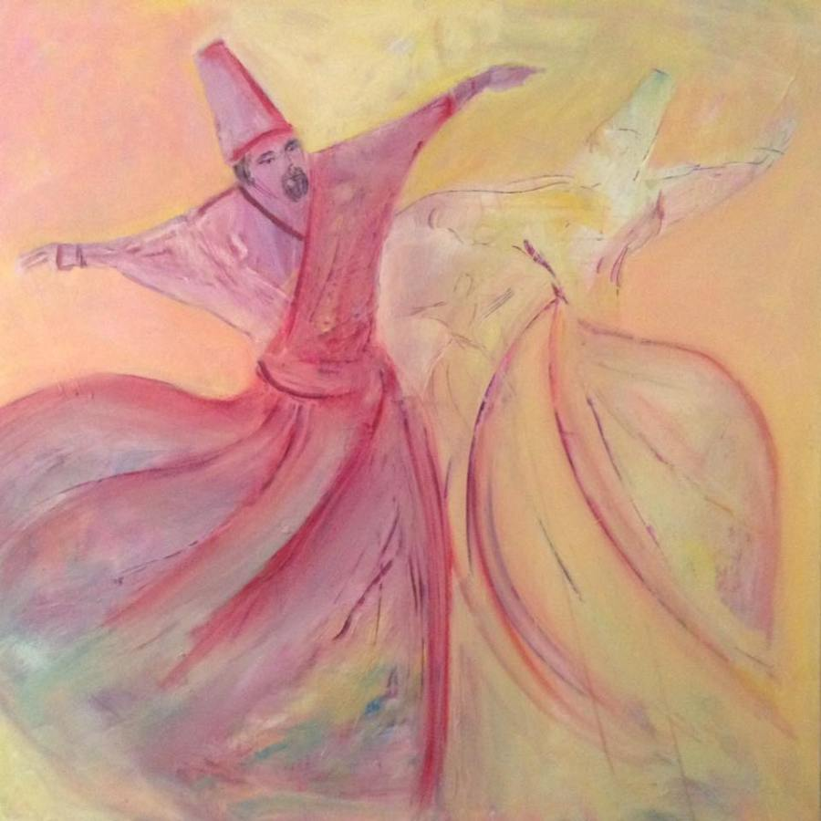 Twirling Dervish Painting