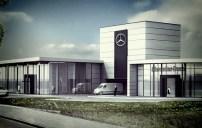 Rozbudowa budynku salonu Mercedes, ul. Zawiła, Kraków