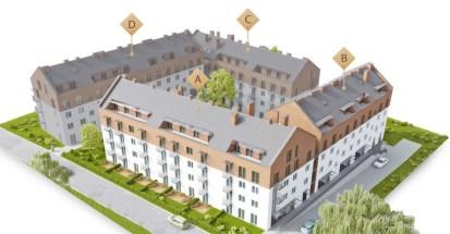 Zespół budynów mieszkalnych wielorodzinnych z lokalami użytkowymi, ul. Jasna w Wieliczce