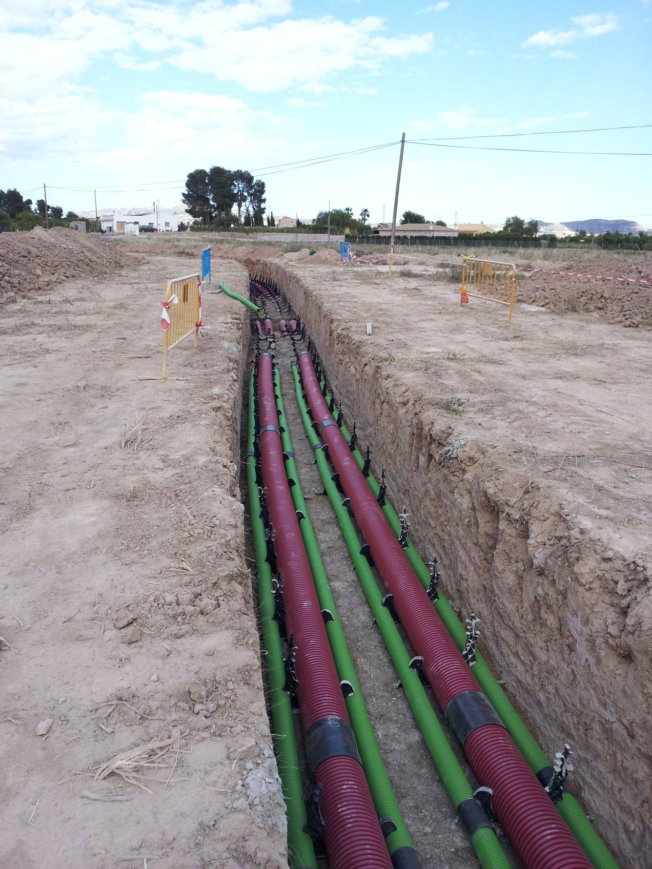 Excavación para Canalizaciones para red