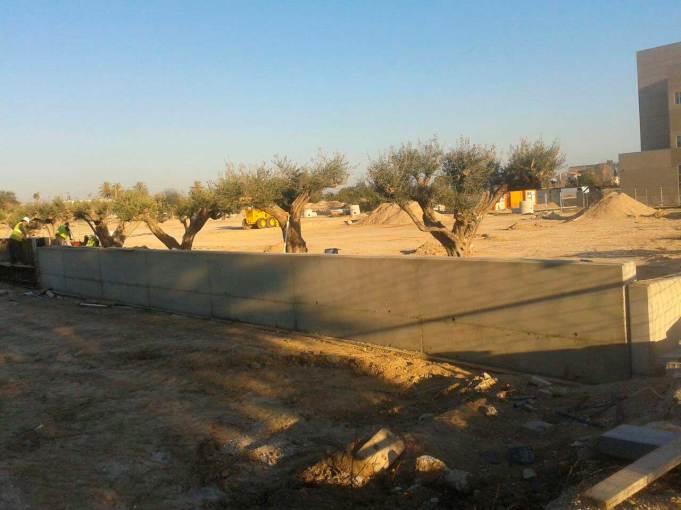 obras cerramiento perimetral muro alicante
