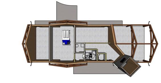 Interior layout.