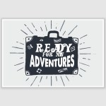 Ready For New Adventures Inspirational Poster (12 x 18 inch)