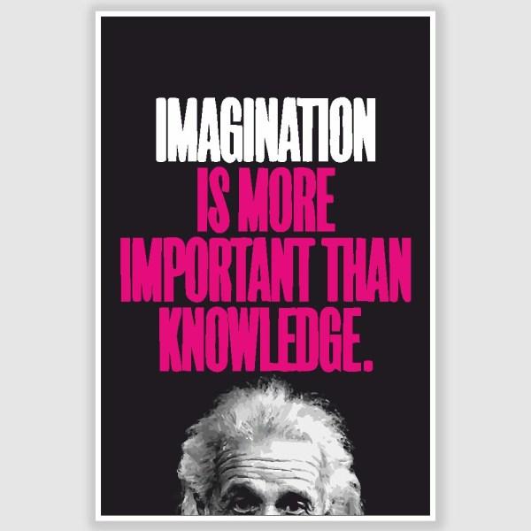 Albert Einstein Inspirational Quote Poster (12 x 18 inch)