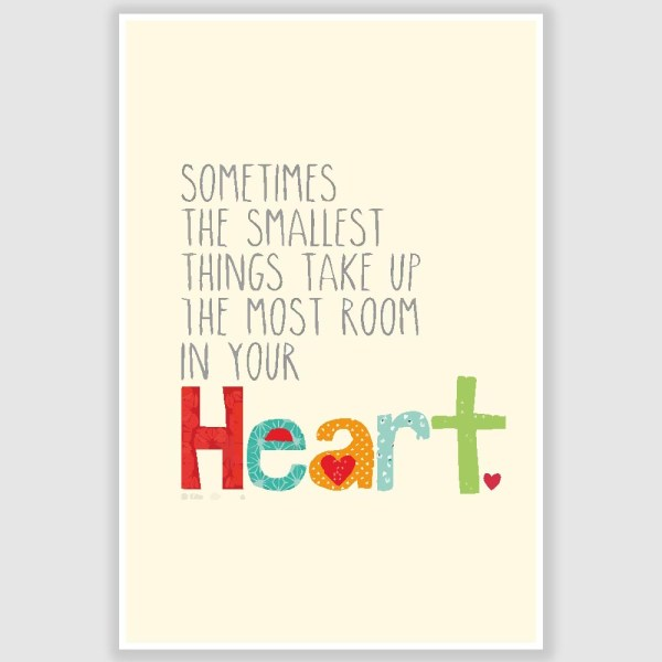 Heart Quote Poster (12 x 18 inch)