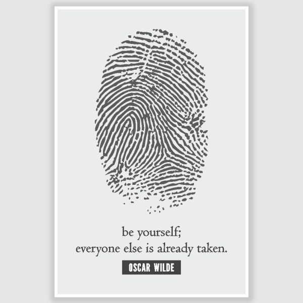 Oscar Wilde - Be Yourself Inspirational Poster (12 x 18 inch)