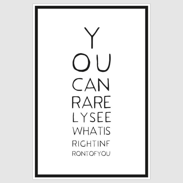 You Can Rarely See Poster (12 x 18 inch)