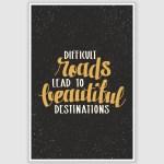 Beautiful Destinations Inspirational Poster (12 x 18 inch)