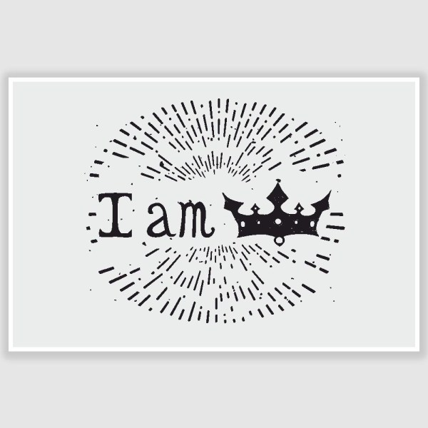 I Am Prince Inspirational Poster (12 x 18 inch)
