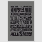 Open Your Mind Change The Way Motivational Quotes Retro Poster (12 x 18 inch)