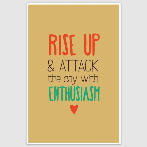 Rise Up Inspirational Poster (12 x 18 inch)
