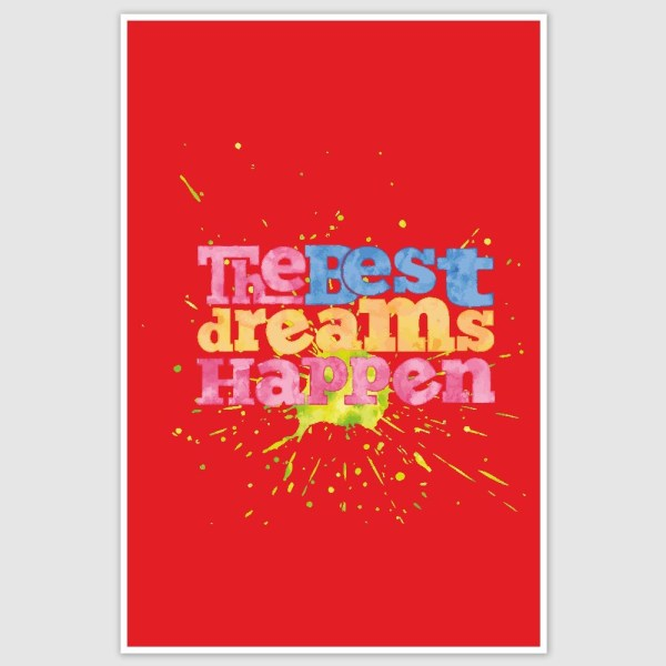 Best Dreams Happen Inspirational Poster (12 x 18 inch)