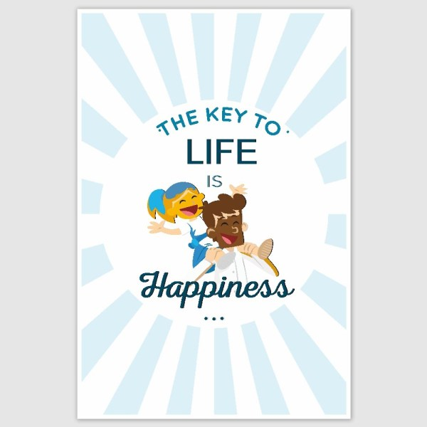 Happiness Poster (12 x 18 inch)
