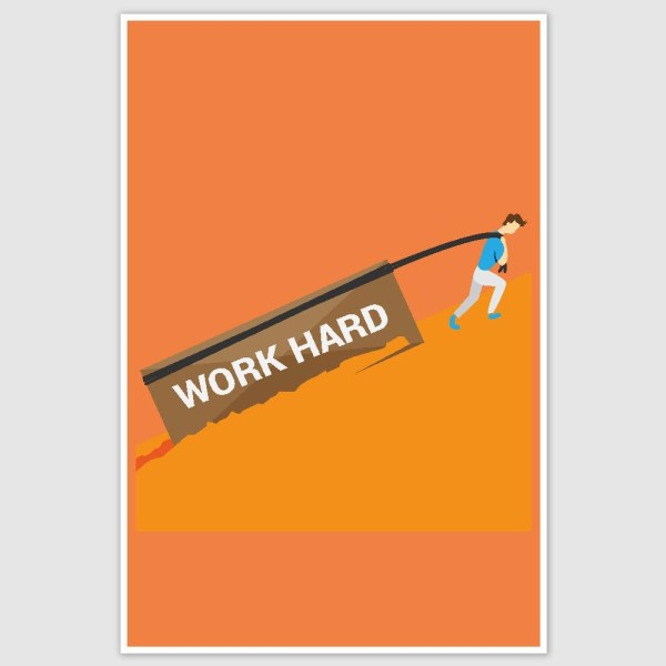 Work hard Motivation Poster (12 x 18 inch)