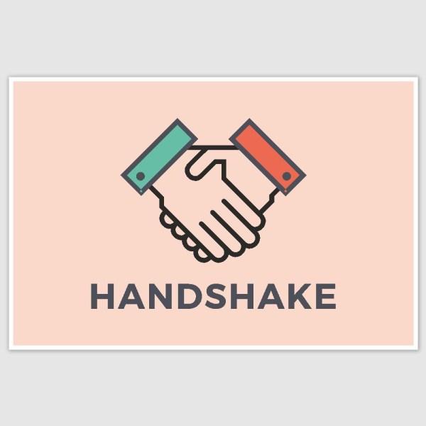 Handshake Poster (12 x 18 inch)