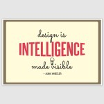 Design Is Intelligence Inspirational Poster (12 x 18 inch)
