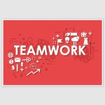 Teamwork Poster (12 x 18 inch)