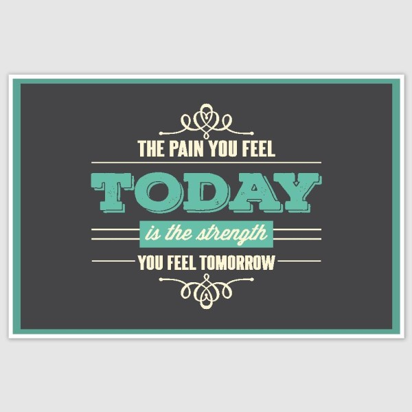 The Pain You Feel Inspirational Poster (12 x 18 inch)