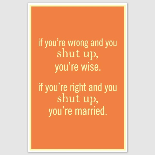 Shut Up Funny Poster (12 x 18 inch)