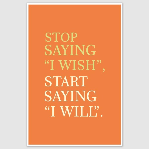 I will Inspirational Poster (12 x 18 inch)