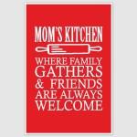 Moms Kitchen Poster (12 x 18 inch)
