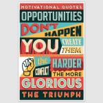 Opportunities Colorful Motivational Poster (12 x 18 inch)